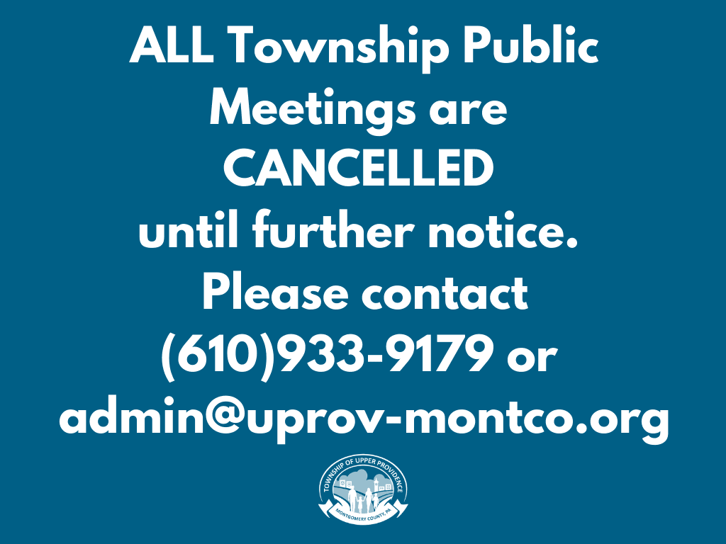All Public Meetings Cancelled Until Further Notice
