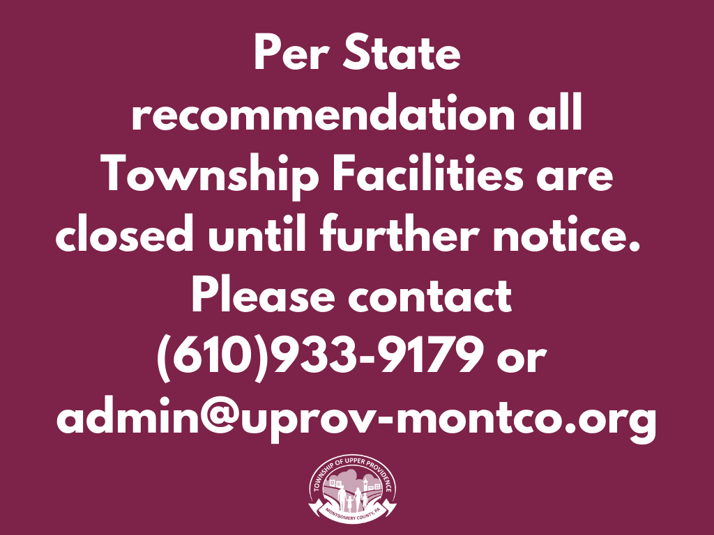 All Township Facilities Closed Until Further Notice