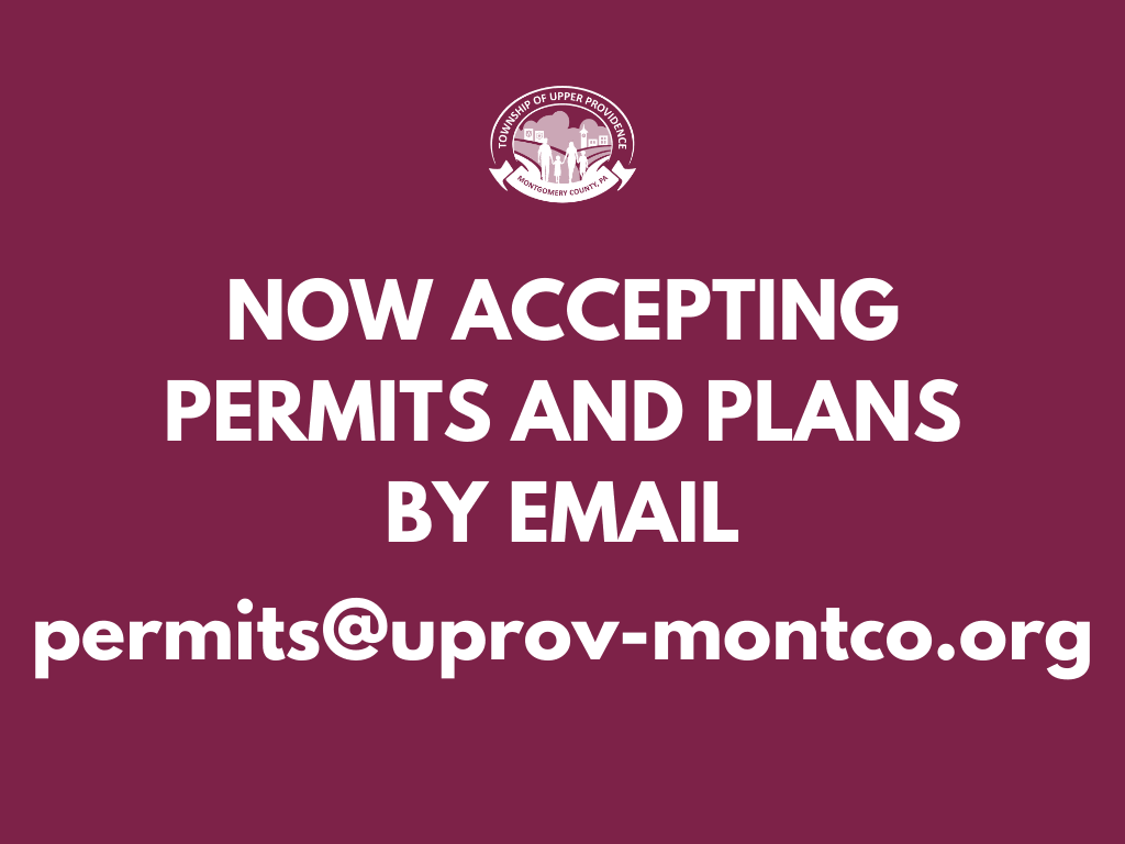 Permits Now Accepted Through Email  - News Flash