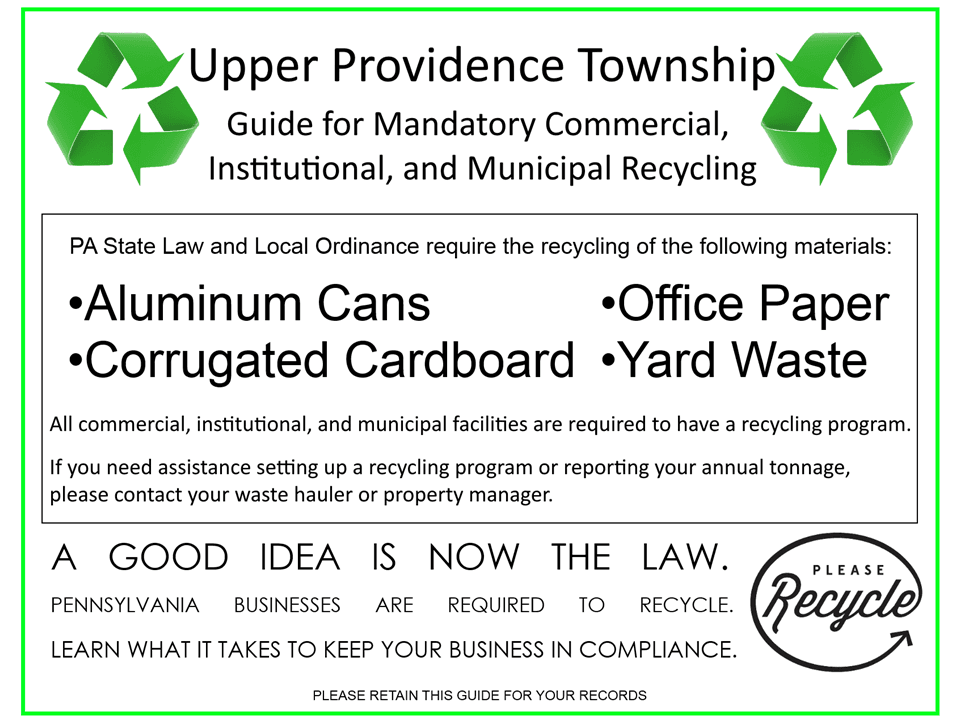 Guide for Mandatory Commercial, Institutional, and Municipal Recycling