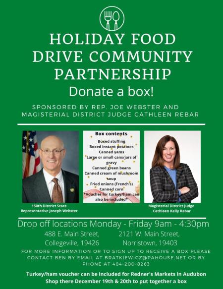 Rep. Webster Food Drive